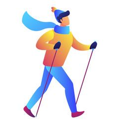 Nordic walking vector