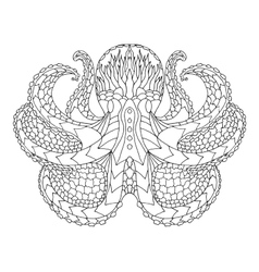 Octopus Ethnic patterned vector image