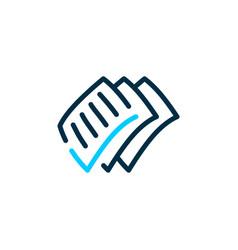paper check mark logo icon vector image