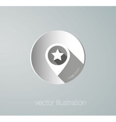 paper map mark icon vector image