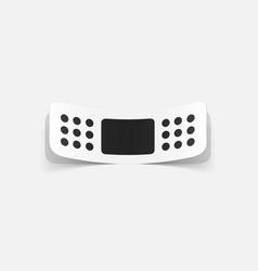 Paper sticker plaster bands vector