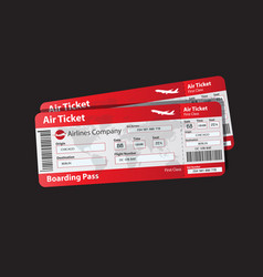 Pattern boarding pass vector