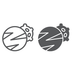 planets line and glyph icon space and astronomy vector image