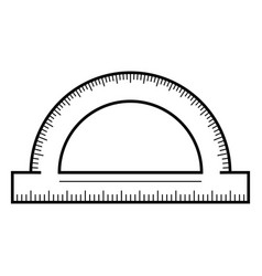 protractor icon outline style vector image