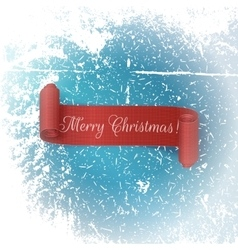 Realistic scroll red Ribbon Merry Christmas vector