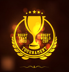 Rugby tournament logo sport vector