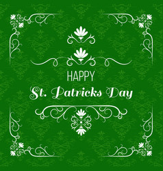 Saint patrick s day greeting card design vector