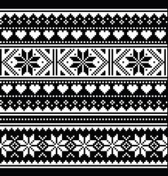scottish fair isle style seamless pattern vector image