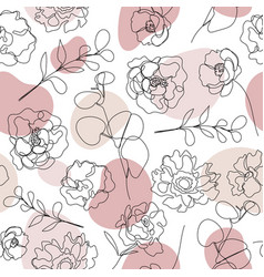 seamless hand drawn pattern single vector image