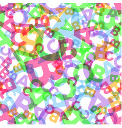 seamless pattern - different letters abc vector image