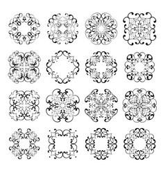Set collections of ornamental lacy designs vector