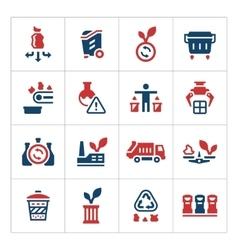 Set color icons of recycling vector image