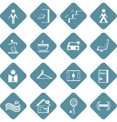 Set flat information symbols sport center vector