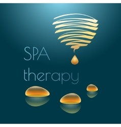 Spa therapy with yellow drops vector