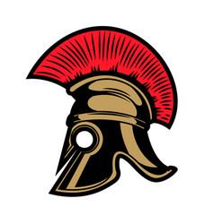 spartan helmet design elements for emblem sign vector image