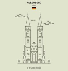 st sebaldus church in nuremberg vector image