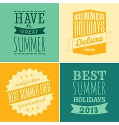 Summer typography vector