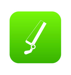 Surgical saw icon digital green vector
