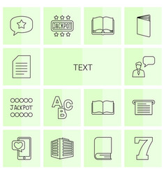 text icons vector image