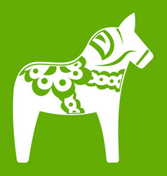 toy horse icon green vector image
