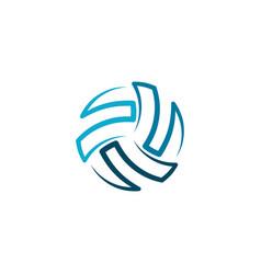 Volleyball logo icon ball element design vector