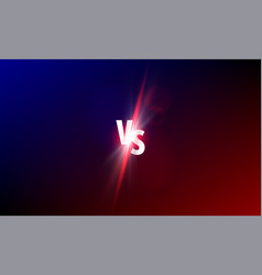 vs versus background sport fight competition vs vector image