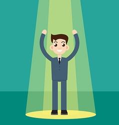 Businessman in spotlight vector image