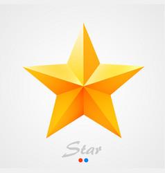 golden star on orange background vector image