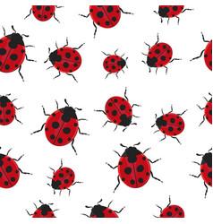 ladybug pattern seamless background vector image
