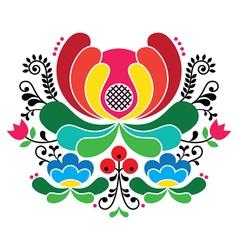 Norwegian folk art pattern - Rosemaling embroidery vector image