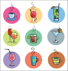 Set of Sketchy Drinks vector image
