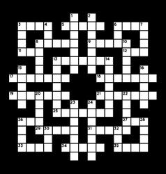 blank crossword vector image vector image