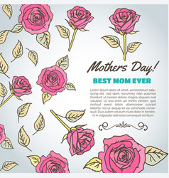 mothers day text best mom ever background with vector image