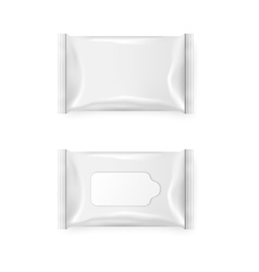 Pack of wet wipes vector