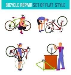 Repair broken bicycle vector image vector image