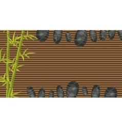 Spa salon banner template Bamboo and pebble rocks vector image