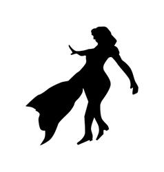 Superhero woman silhouette vector image