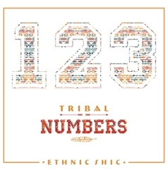 Tribal ethnic numbers for t-shirts posters card vector image
