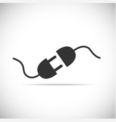 wire plug and socket icon vector image