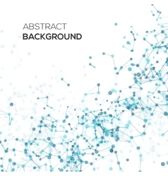 Abstract line background with circles vector image vector image