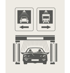 Car wash Set of icons vector image vector image