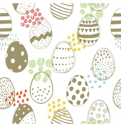easter pattern with color elements vector image vector image
