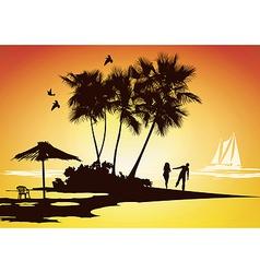 honeymoon relaxing vector image vector image