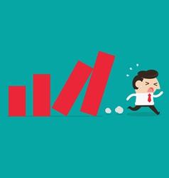 Lose money vector image vector image