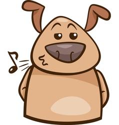 Mood chill dog cartoon vector