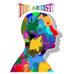 The artist vector image vector image