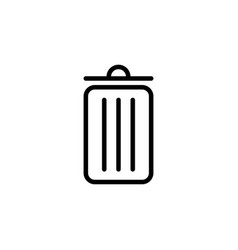 thin line trash bin icon vector image
