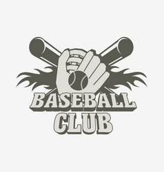 baseball logo badge or label design template with vector image vector image