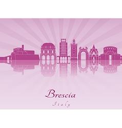 Brescia skyline in purple radiant orchid vector image vector image