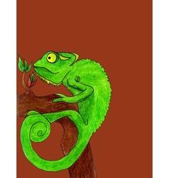 Chameleon cartoon vector image